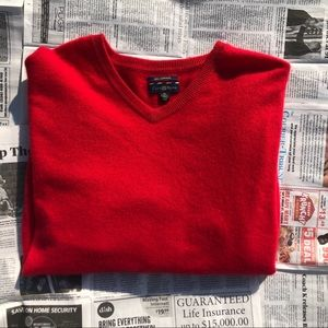MENS CLUB ROOM CASHMERE SWEATER SIZE XL (RED)